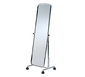 Chrome Plated Cheval Mirror