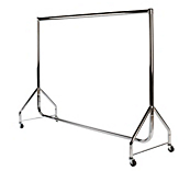 Chrome Top Reduced Height Clothes Rails