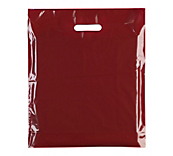 Burgundy Plastic Carrier Bags