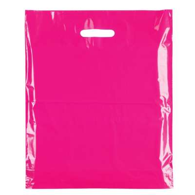 Fuchsia Pink Plastic Carrier Bags