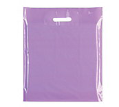 Lilac Plastic Carrier Bags