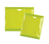 Lime Green Plastic Carrier Bags