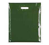 Olive Green Plastic Carrier Bags