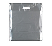 Silver Plastic Carrier Bags