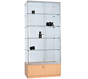 Clearview Glass Display Cabinets - Beech