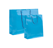Blue Laminated Gloss Paper Bags