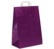 Purple Flat-Handled Paper Carrier Bags