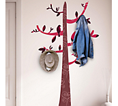 Colourful tree & hooks sticker
