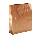 Copper Gloss Paper Carrier Bags