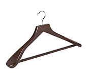 Dark Wooden Suit Hangers