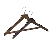 Dark Wooden Wishbone Coat Hangers