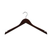 Dark Wooden Flat Coat Hangers