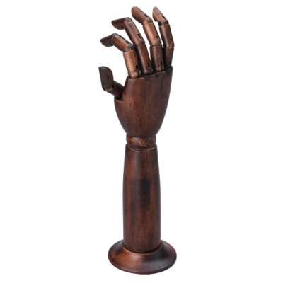 Dark Wood Mannequin Hands