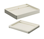 Deluxe Cream Leatherette Jewellery Trays