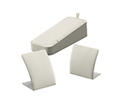 Deluxe Cream Leatherette Pendant Stands