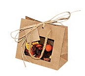 Deluxe Kraft Paper Window Bags