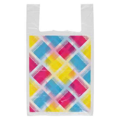 Diamond Print Plastic Carrier Bags
