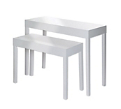 Gloss White Display Tables
