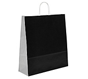 Black Dogtooth Paper Carrier Bags