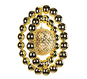 Gold Double Ring Ornament