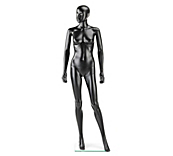 Economy Black Abstract Female Mannequins