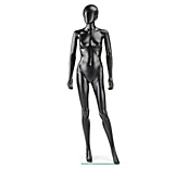 Economy Black Stylised Female Mannequins
