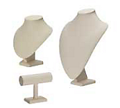 Economy Cream Leatherette Jewellery Display
