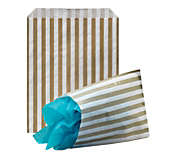 Gold Striped Paper Bags