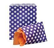 Purple Polka Dot Paper Bags
