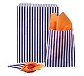 Purple Striped Paper Bags