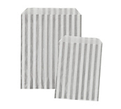 Silver Striped Paper Bags