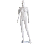 Economy White Abstract Female Mannequins