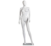 Economy White Faceless Female  Mannequins