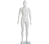 Economy White Faceless Male Mannequins