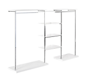 Gloss White Shelves Combination Wall Bays