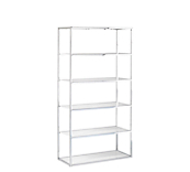 Edge Chrome Framed Shelving Units - White