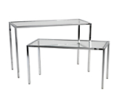 Queen Vogue Display Tables - Chrome