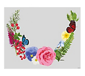 English Garden Garland Window Cling
