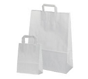 Economy White Flat Handled Carrier Bags