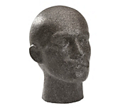 Essentials Grey Mannequin Head