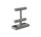 Grey Fabric Jewellery Stand