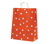 Fashion Dot Paper Carrier Bags - Coral