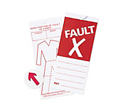 Fault Stickers & Tickets