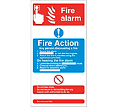 Fire Exit & Action Signs - Self Adhesive