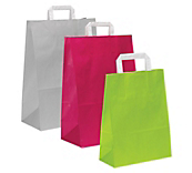 Flat Handled Carrier Bags