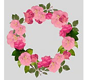 Floral Wreath Window Cling