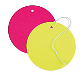 Flourescent Circle Tags