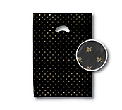 Black Flower Print Carrier Bags