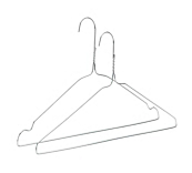 Galvanised Wire Coat Hangers