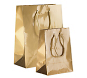 Gold Paper Carrier Bags